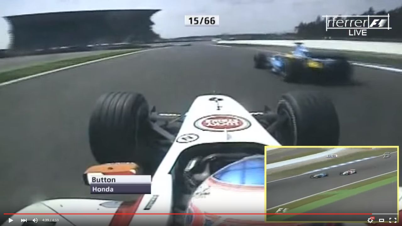 2004 R12 Button vs Alonso
