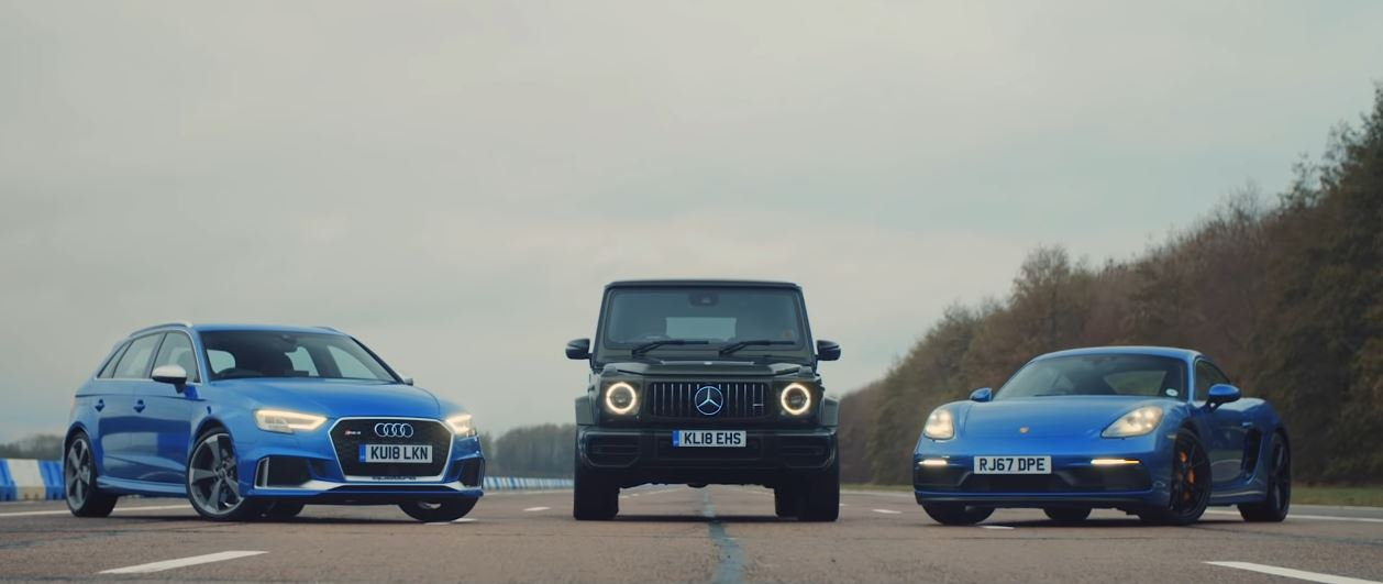 AMG g63 vs Cayman GTS vs Rs3