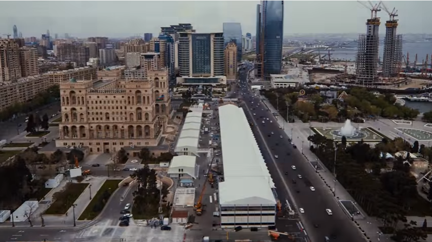 F1 2016 Baku City circuit Paddock buildin