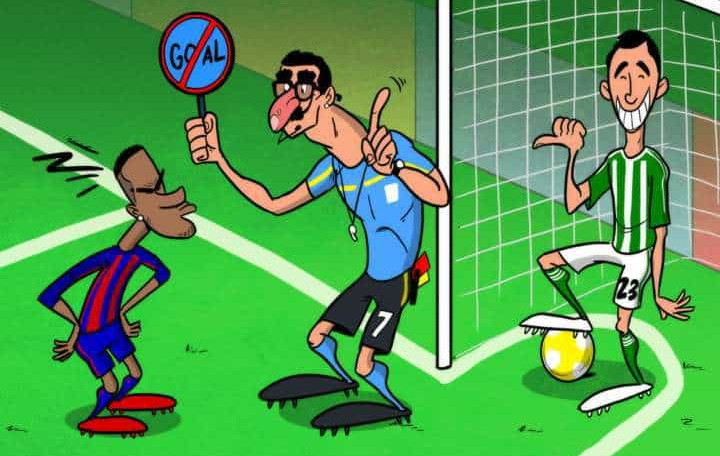 barcelona referee goal cartoon