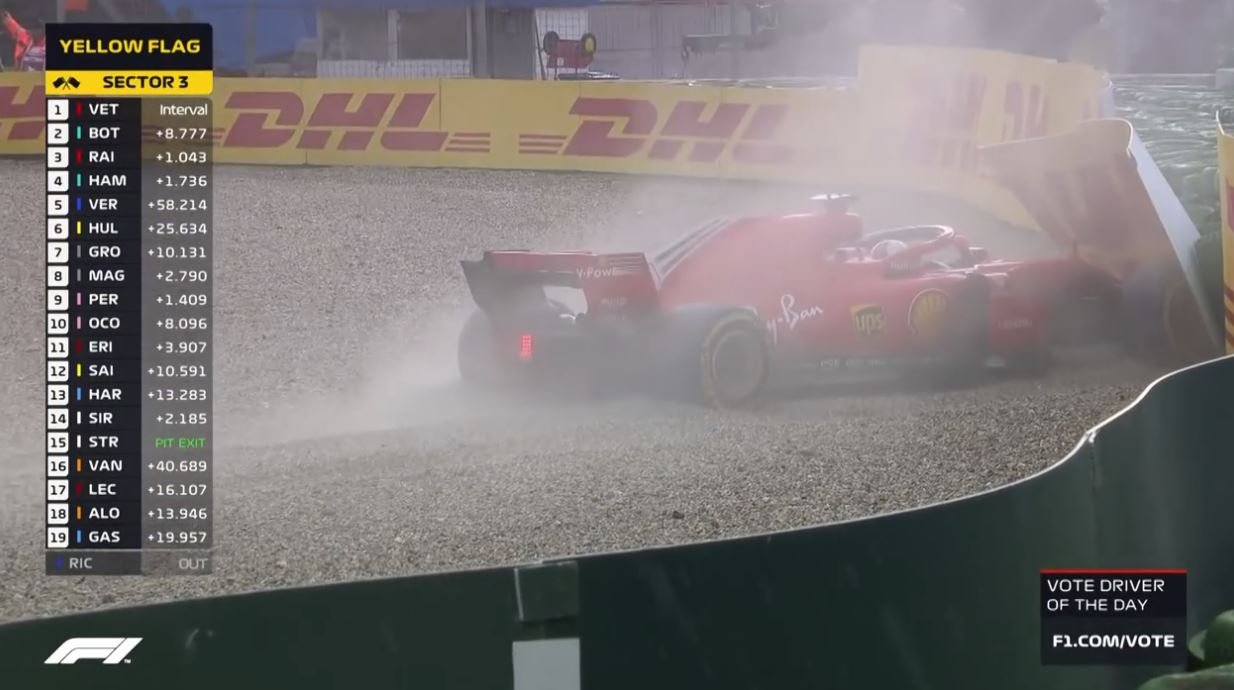 Vettel out